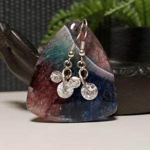 Sterling silver spinner earrings